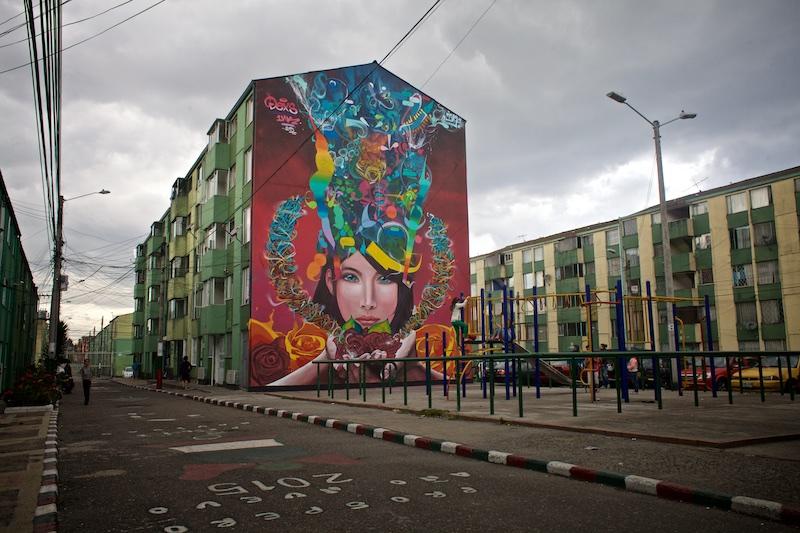 Una galería urbana en el barrio Galicia