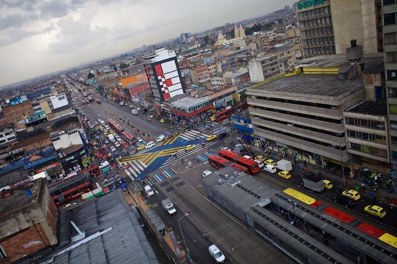 Una mirada al centro de Bogotá desde arriba